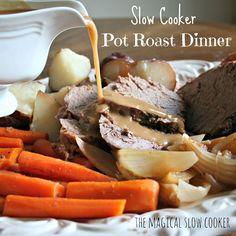 Slow Cooker Pot Roast, just like grandmas!