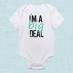 Big Deal, Funny Baby Clothes, Baby Shower Gift, Gender Neutral