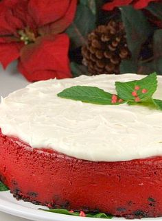 Red Velvet Cheesecake #recipe