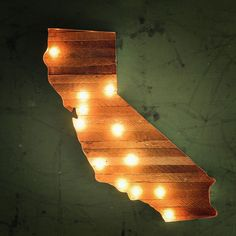 PRESERVE.us - California Map Marquee - Shop