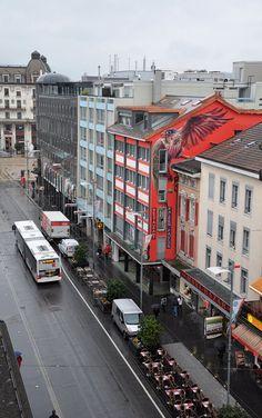 street artist Remo Lienhard (aka Wes21) via thisiscolossal.com