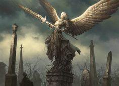 — Angel Grave Warrior by Dan Scott