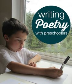 Preschoolers and #poetry? Perfect together! See our #RaiseaReader blog for how to write poetry w/preschoolers.