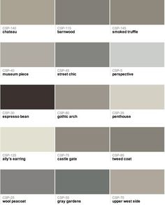 Popular Benjamin Moore paint colors, officially ushering out the Tuscan brown trend, and welcoming the new gray trend.