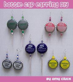 bottle cap earrings!