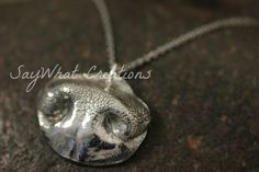 Pet Nose Impression Necklace MEDIUM  from your by SayWhatCreations, $105.00