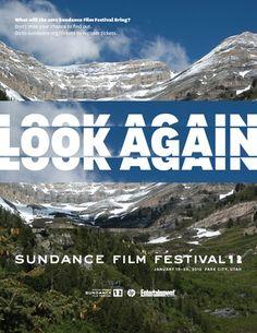 Sundance Film Festival 2012 poster by Paula Scher, Pentagram