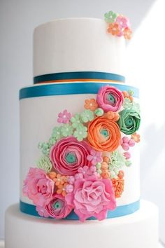 Flower cake - gorgeous colors!