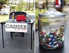 garage sale organization, yardsale ideas, garage sale ideas, grocery bags, garage sales