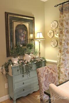 buffets, breakfast rooms, 2012 christma, blue buffet, dresser, christma decor, christmas, blog, blues