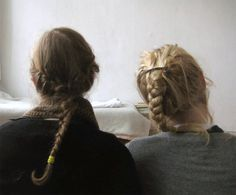 Two Braids. girl hairstyl, miek willem, winter, beauti braid, friendship, braids, wear braid, hair style, braid hair