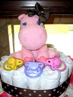 awww....  adorable diaper cake.