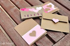 Handmade Paint Chip Thank You Cards