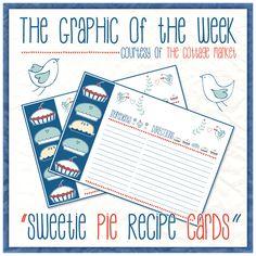 Free Printable Sweetie Pie Recipe Cards