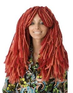 Free Crochet Pattern: Wild, Wild Red Wig -- I'm just crazy enough to make AND wear this.