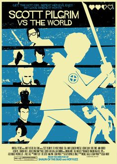 Scott Pilgrim Vs The World vintage style 5X7 print by TeamWelser