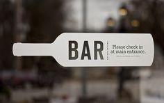 Bar. Logo. Font. Layout. Design