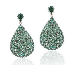 Carolyn Hunter - Emerald Teardrop Shaped Earrings  These are gorgeous