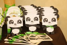 Fun favors at a Panda Birthday Party!  See more party ideas at CatchMyParty.com!  #partyideas #panda