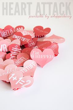 Heart Attack Printables from WhipperBerry | Skip To My Lou