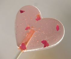 rose lollipops are made with aromatic organic edible rose petals