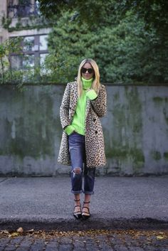 #leopard + #neon for fall