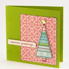 Pretty Pink Christmas Card