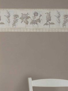 This classic floral wallpaper border would look fantastic in a bathroom or kitchen. Borders Resource Collection by Brewster