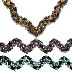 Tila Wave Pattern Collection by Deborah Roberti at Bead-Patterns.com