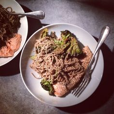 Soba bowls with salmon