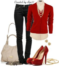 """""""Red & Beige"""" by dlp22 ❤ liked on Polyvore"""