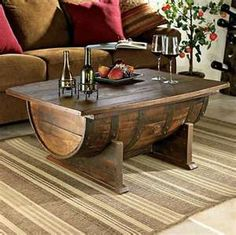 game rooms, coffee tables, living rooms, wine barrels, whiskey barrels, basement, hous, coffe tabl, man caves