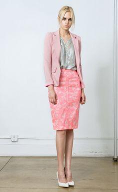 Op Blazer with Candy Pencil Skirt - YB Resort 2014