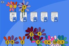 A counting and adding activity for reaching target totals. Set target totals on each vase using the drop downs. Ask pupils to suggest addition pairs that will make the target total for each vase. Can you make the same total in different ways Alternatively place one flower in the vase and ask pupils what is needed to make up the total. Ask pupils to say the sum that they have created.