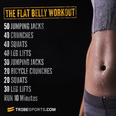 The Flat Belly Workout via @Tribesports #tribesports #workout #fitness #fit #fitspo #fitspiration #exercises #exercise #body #improvement