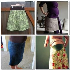 Maternity DIY sewing...hopefully I will have the need to know this in the future... matern diy, sew tutori, diy matern, matern sew, matern skirt, babi, diy sew, maternity sewing, sewing tutorials