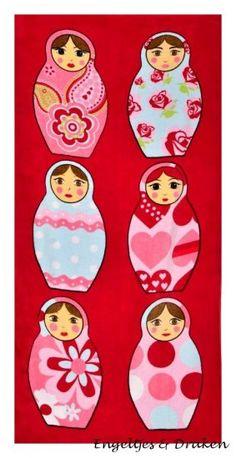 Babushka love on pinterest matryoshka doll doll and russian doll tattoo - Kinderkamer decoratie ...