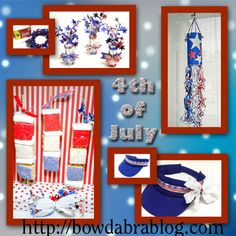 Kids Crafts Ideas for 4th of July! The windsock is so cute!