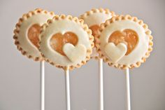 Heart Cutout Pie Pops