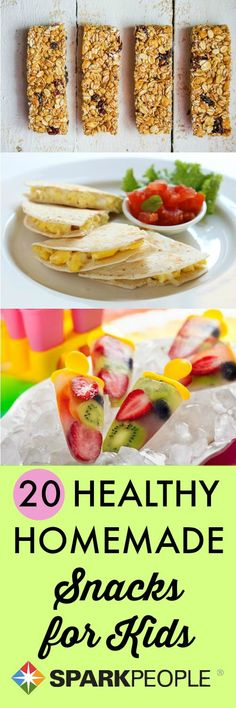 Spice up after-school #snacks with these fun and #healthy ideas! | via @SparkPeople #kids #food