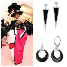 There were so many great camp looks at the #MetGala that we can't resist posting one more. Janelle Monáe's incredible Christian Siriano costume was inspired by Picasso's African period. Monáe wisely went with less-is-more in her jewelry - and wore Jazz-Age-inspired black onyx and diamond earrings by Hanut Singh. Fortunoff Jewelry's black and white collection can help you get the look.