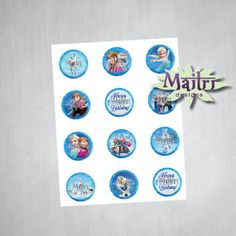 Frozen Cupcake Toppers INSTANT DOWNLOAD by MaitriDsigns on Etsy, $3.00
