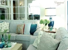 Blues and Greens Sitting room