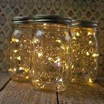 Fairy lights! ball jars, fireflies, masons, fairies, centerpieces, jar lights, mason jars, fairi light, pints