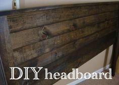 magenta and lime: diy headboard