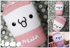 TOMO STRAWBERRY MILK - Kawaii Milk Plushie by TomodachiIsland.deviantart.com on @deviantART