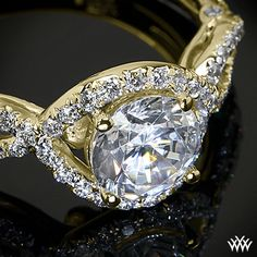Yellow Gold Verragio Twisted Bypass Diamond Engagement Ring from the Verragio Insignia Collection. Pin it to Win it with Whiteflash + Verragio!