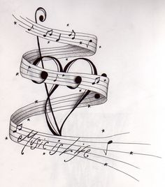 The bass and treble clef are combined to make a heart :)