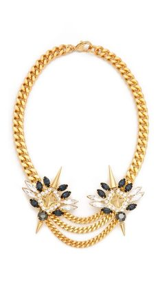 Fallon Jewelry Winged Swag Necklace