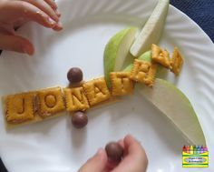 food craft to use with Chicka Chicka Boom Boom for name building and letter recognition
